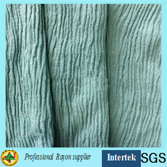 Man-Made Cotton Crepe Fabric for Garments pictures & photos