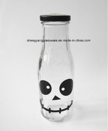 Decal Drink Bottle /Milk Bottle with Lid and Straw pictures & photos