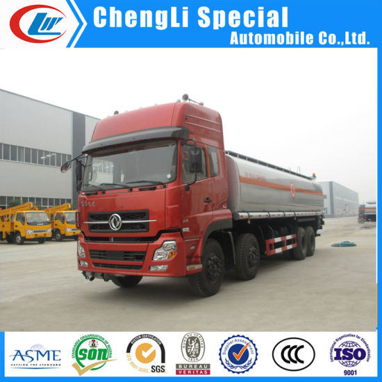 Dongfeng 8X4 25000liters Oil Box Van Fuel Tank Truck for Sale pictures & photos