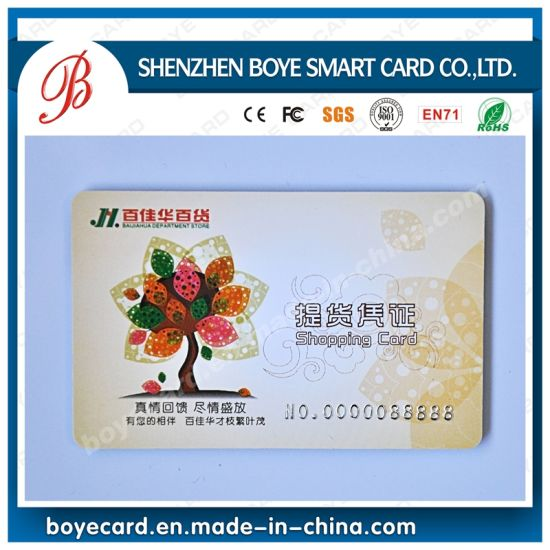 China SGS Approved Plastic Cr80 PVC Shopping Member Cards - China