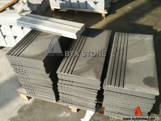 China Natural Black Stone Steps Risers Sandstone Exterior Stair ...