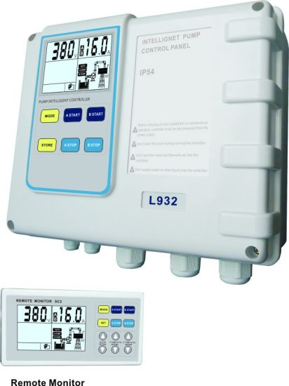 Water Pump Control Box with Remote Monitor, IP 54, Control and Protect Two Pumps Running