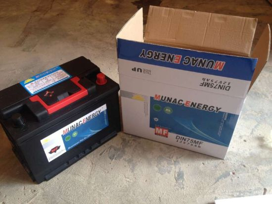 DIN75mf 12V75ah Maintenance Free Lead Acid Car Storage Battery & China DIN75mf 12V75ah Maintenance Free Lead Acid Car Storage Battery ...