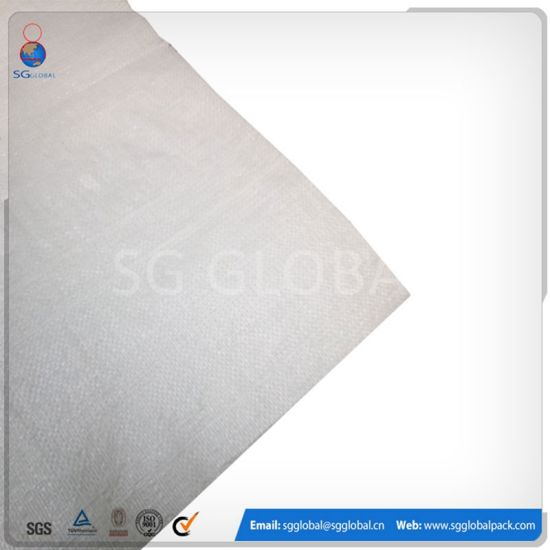 White Color 100% Polypropylene PP Woven Bag pictures & photos