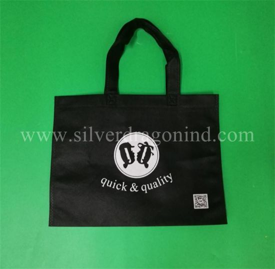 Custom Nonwoven Advertising Bag Carreir Bag with Soft Loop Handle pictures & photos