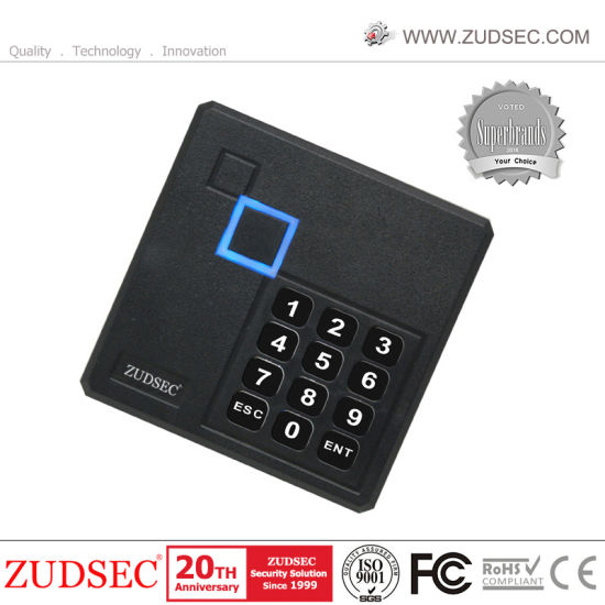 IP68 Waterproof RFID/IC Metal Touch Digital and Card Swipe Access Control Keypad/Standard Alone Card Reader with LED
