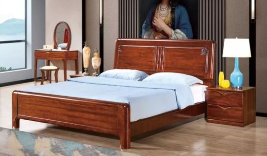 Wooden Antique Style Bed Set