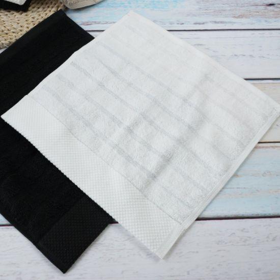 Bleached 100% Cotton Square 32*32cm Face Towel Gift Set