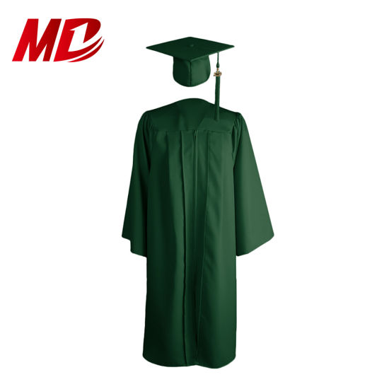 2019 Factory Sale Economy Bachelor Graduation Matte Cap and Gown Kelly Green pictures & photos