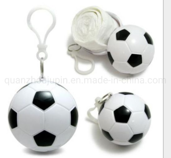 OEM Football Shaped Keychain Raincoat Ball Disposable Emergency Poncho pictures & photos