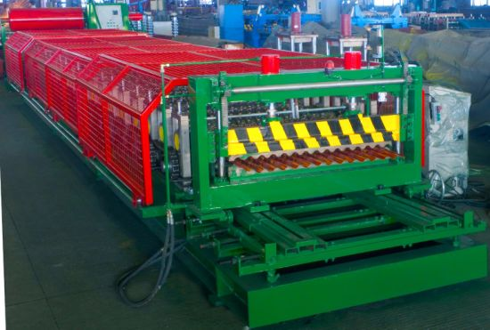 Automatic Roofing Corrugated Sheet Metal Roll Forming Machine