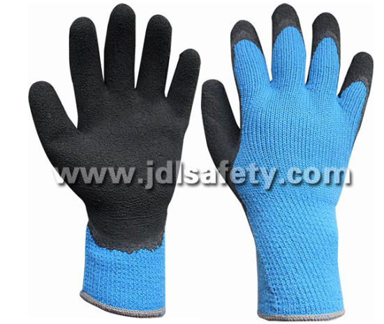 Industrial Using Keep Hands Safety Personal Protective Equipment CE Approved Hi-Viz Acrylic Work Glove with Latex Foam Coating (LY2035B)