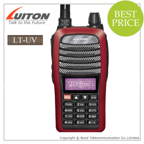 Dual Band VHF/UHF Radio Lt-UV Walkie Talkie