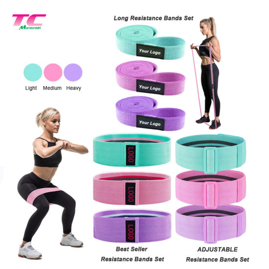 Best Selling Anti-Slip Workout/Fitness Resistance Bands Set Factory, Wholesale Home Gym Exercise Yoga Muscle Booty Hip Elastic Resistant Loop Bands
