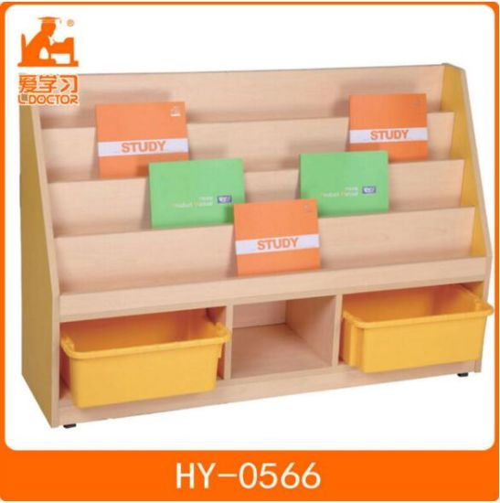 School Library Furniture/Wooden Kids Reading Cabinet