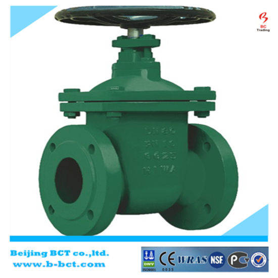 DIN Standard Casting Iron Non-Rising Gate Valve pictures & photos