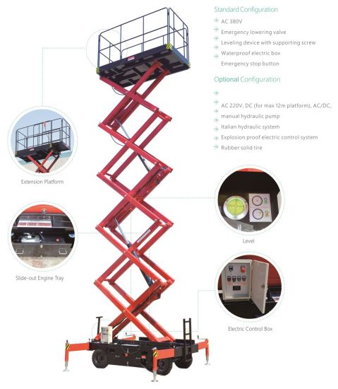 Mobile Scissor Lift (upgraded) Max Platform Height 4.9 (m) pictures & photos