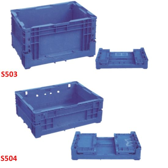 S Type Collapsible Plastic Distribution Storage Containers Boxes