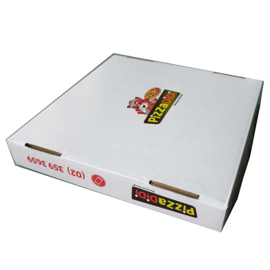 Pizza Box for Packaging Top and Bottom Corrugated Cardboard pictures & photos