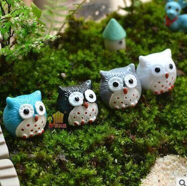 Polyresin Sculpture Owl Toys Gifts Mini Figures Garden Decoration Resin Craft