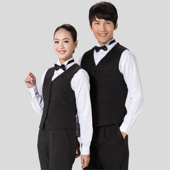 china restaurant waiter vest hotel waiter vest restaurant clothing