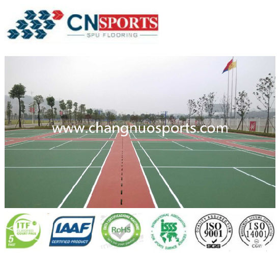 UV Resistant and Abrasion Resistant Tennis Court Flooring Material