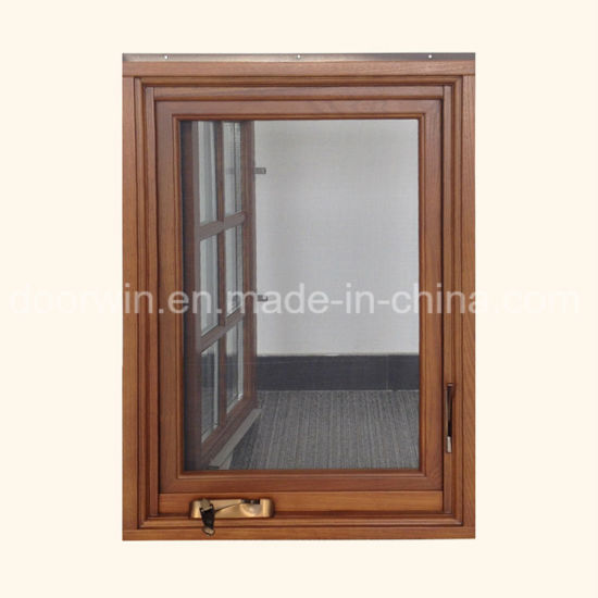 America Building Code Wood Aluminum Window for California USA Customer pictures & photos