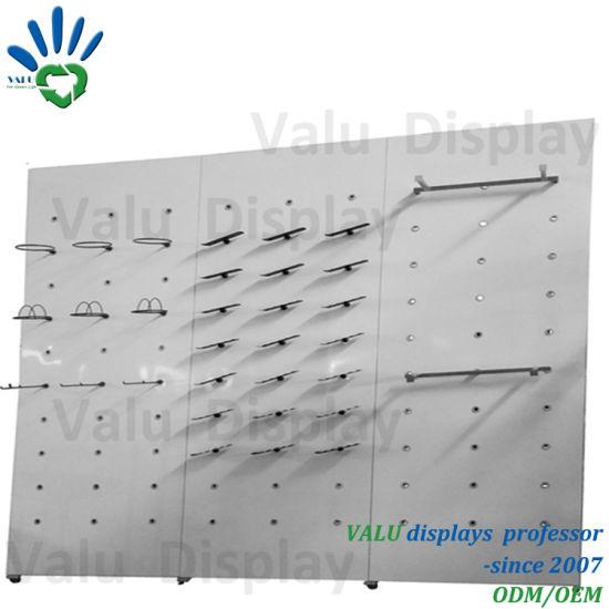 Metal Shoe Display Panel Stand/ Panel Display Fixutre/ Panel Display Shelf for Shop/Store