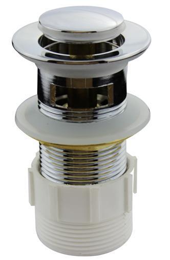 Chrome Finish Brass Waste Drain Basin Pop up Waste (CY-27S)