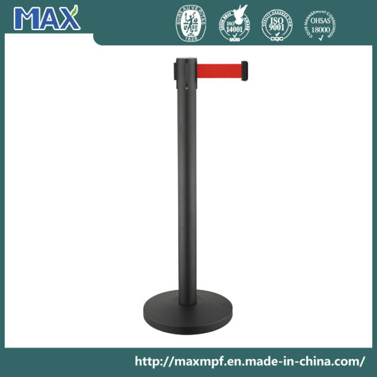 Crowd/Queue Control Posts with Retractable Belt - Temporary Safety Barrier