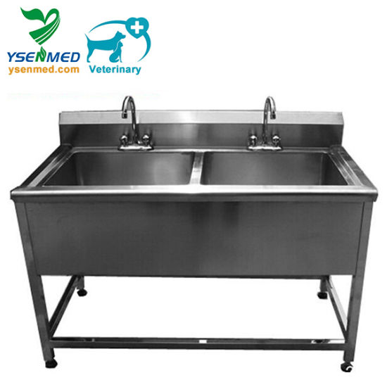 Medical Stainless Steel Veterinary Cleaning Sinks pictures & photos