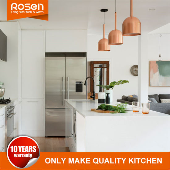 China White High Gloss Mdf Spray Lacquer Finish Kitchen Cabinetry