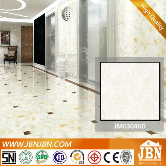 China Super Black Polished Porcelain Floor Tile Jm63046d China