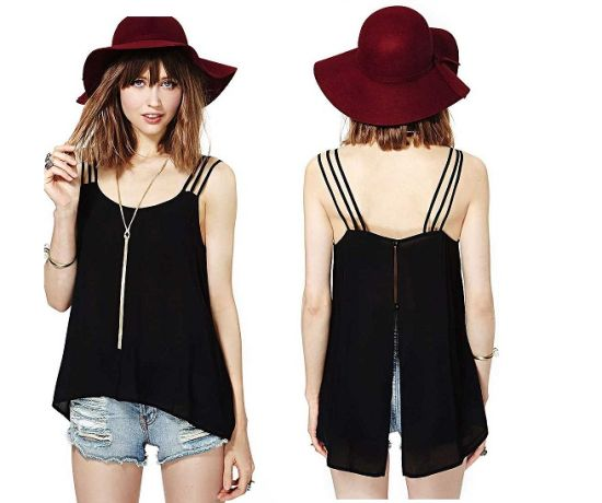 OEM Clothing Latest Design Sexy Casual Ladies Chiffon Blouse pictures & photos