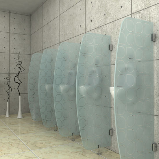 China Glass Partitions In Bathroom With En And ASNZS - Glass partition wall for bathroom