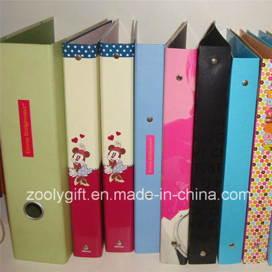 china customized design printing paper ring binder lever arch file