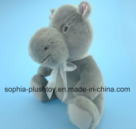 Soft Stuffed Plush Hippo Toy for Children as Gift pictures & photos