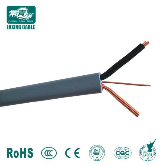 China 220V PVC Insulated 1.5mm 2.5mm 3 Core 2+E Solid Copper ...