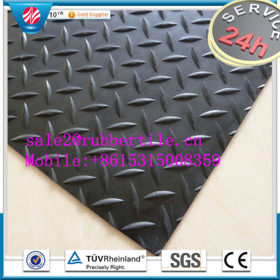 Rib Rubber Sheet, Green Rib Rubber Sheet, Anti-Abrasive Rubber Sheets pictures & photos