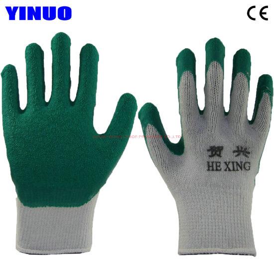 Cheap White Yarn Shell Latex Coated Heavy Industrial Work Glove