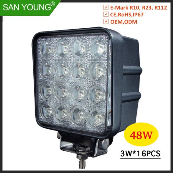 4inch 48W LED Driving Light 4 Inch LED Headlight Projecto LED Work Light Working 12V 24V Lite pictures & photos
