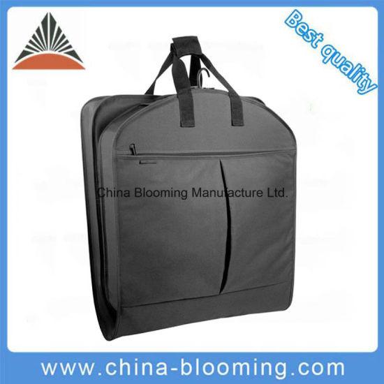 Non Woven Black Foldable Garment Bag Cover Suits Dress Bag