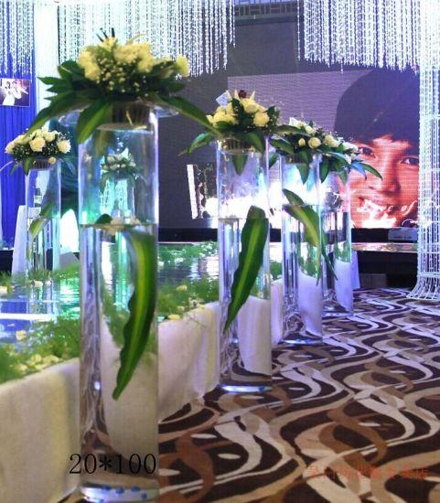 China Customerized Acrylic Flower Vases For Wedding Celebrating