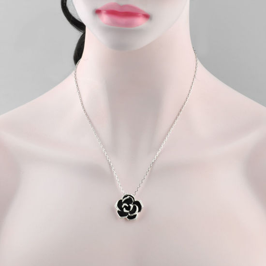 Fashion Creative Enamel Crystal Flower Necklace pictures & photos