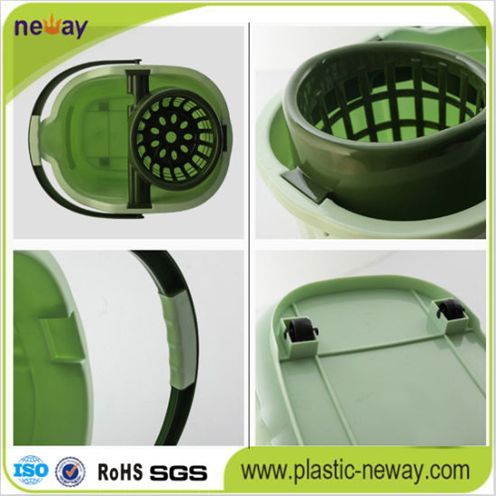 Spin Plastic Mop Bucket with Wheels pictures & photos