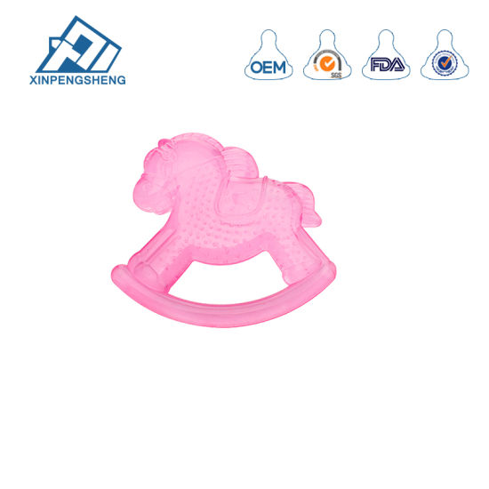Hot Selling EVA+Water Cute Shape Soft Baby Teether Baby Silicone Toys for Kids