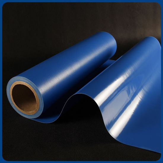 High Quality Waterproof Glossy Blue PVC Coated Tarpaulin for Trcuk Cover pictures & photos