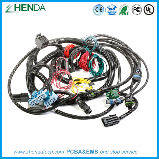 Auto Wire Harness Electronic Equipment Male and Female Cable Assemblies china auto wire harness electronic equipment male and female cable
