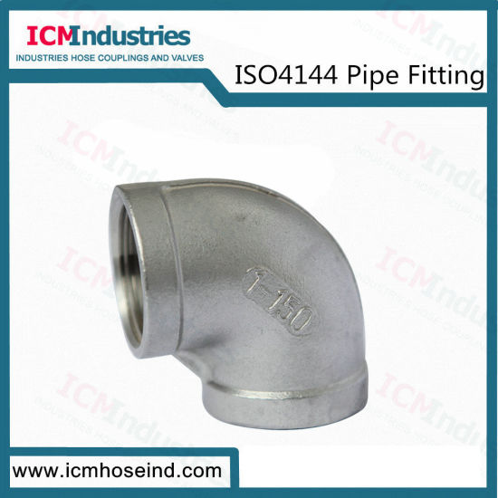 Stainless Steel Pipe Fitting 90 Degree Elbow Threaded Fittings