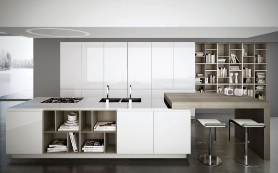 Modern Design High Gloss White Uv Panel Kitchen Cabinet Set Hot Color